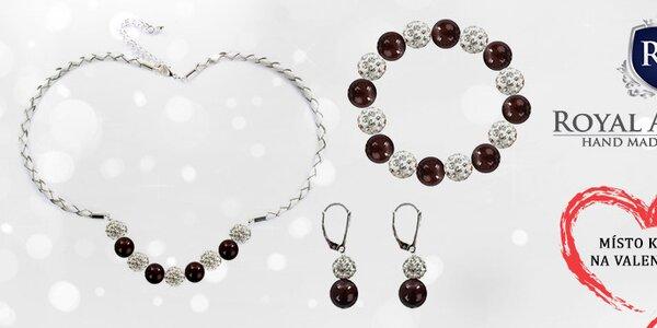 Dárek k Valentýnu - šperky se Swarovski perlami Royal Adamas