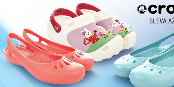 Pohodlné a lehoučké dámské a dětské boty Crocs
