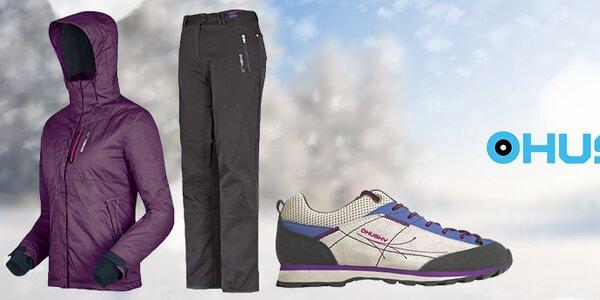 Dámské lyžařské a sportovní oblečení a boty Husky