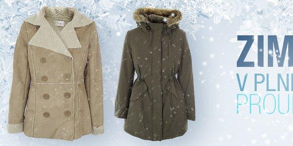 Zima v plném proudu! Dámské kabáty a bundy