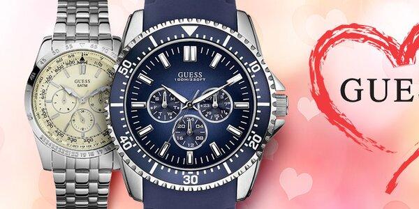 Dárek k Valentýnu - luxusní pánské hodinky Guess