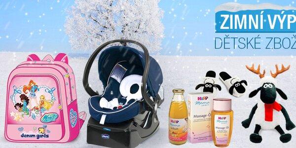 Zimní výprodej dětského zboží