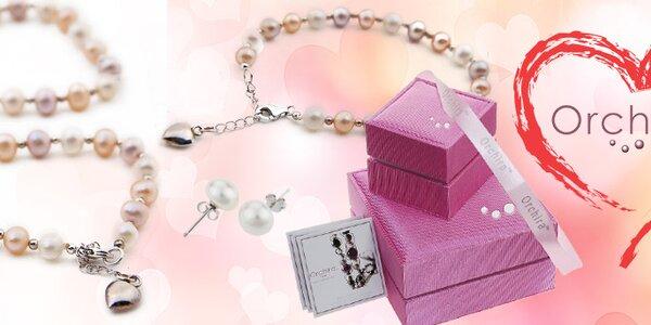 Dárek k Valentýnu - šperky z perel Orchira. Vše skladem!