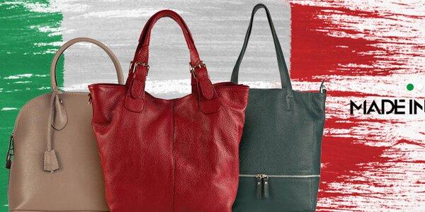 Elegantní kožené kabelky Made in Italia