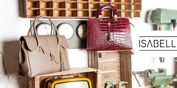Italské kožené kabelky Isabella Rhea