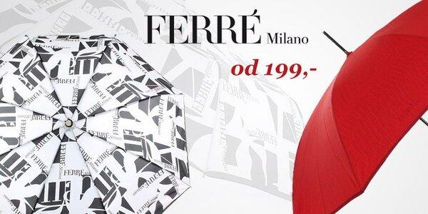Vesele barevné i stylové dámské deštníky Ferré Milano