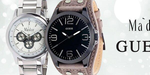 Stylové pánské hodinky značek Ma´dor a Guess