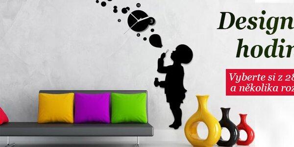 Nalepovací designové hodiny na zeď