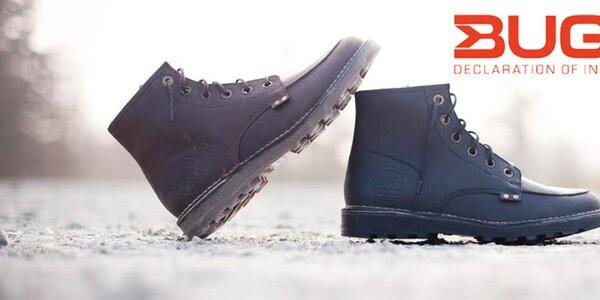 Kvalitní pánské boty z pravé kůže Buggy