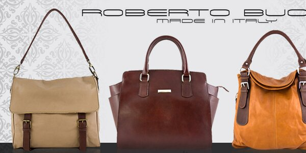 Kvalitní italské kožené kabelky Roberto Buono