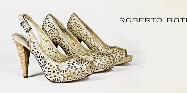 Roberto Botella - originální dámské kožené botičky