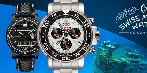 Luxusní švýcarské pánské hodinky Swiss Military