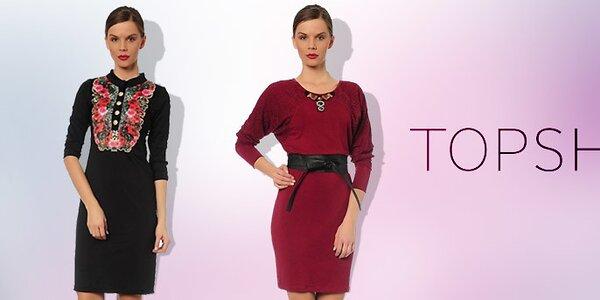 Elegantní společenské šaty pro dámy TopShop