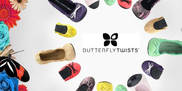 Butterfly Twists - módní londýnské balerínky - z minulých kolekcí - již od 349,-