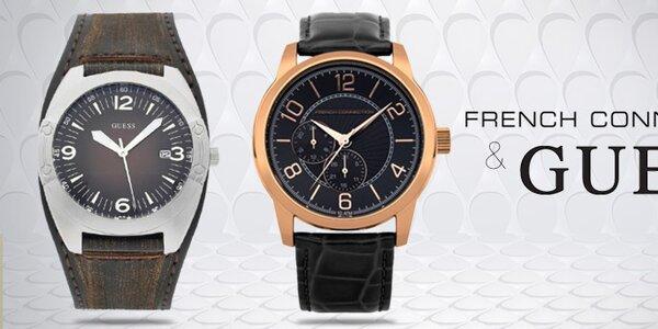 Pánské hodinky módních značek French Connection a Guess
