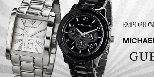 Tik tak, tik tak - značkové pánské hodinky Emporio Armani, Guess, Michael Kors, Hugo Boss, Dolce & Gabbana, The One