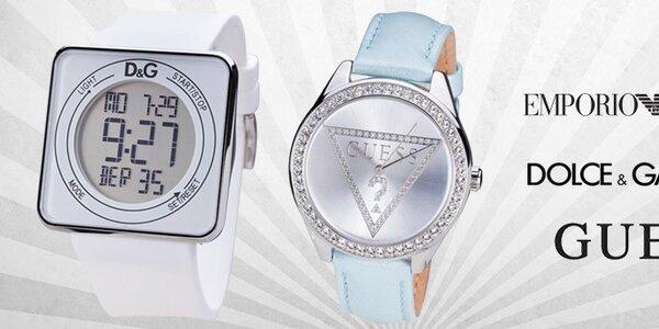 Tik tak, tik tak - značkové dámské hodinky Emporio Armani, Guess, Dolce & Gabbana, The One