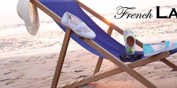 Stylové francouzské tenisky French Lab - krajka i nádherné barvy