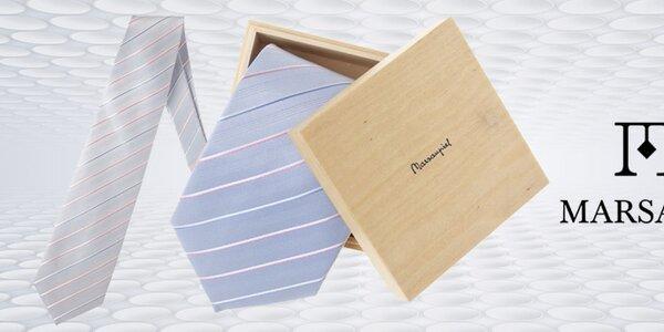 Originální španělské kravaty a manžetové knoflíčky Marsanpiel