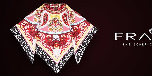 Barevné dámské šátky oblíbené značky Fraas