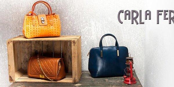 Elegantní italské kožené kabelky Carla Ferreri