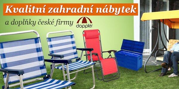 Vysoce kvalitní zahradní nábytek a doplňky české firmy Doppler