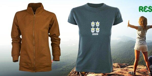 Volnočasová dámská trička a mikiny s potiskem Respiro