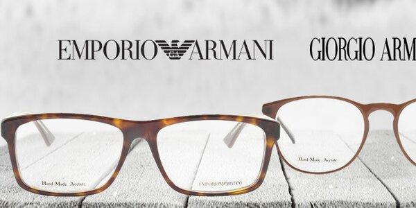 Stylové brýlové obroučky Emporio Armani a Giorgio Armani