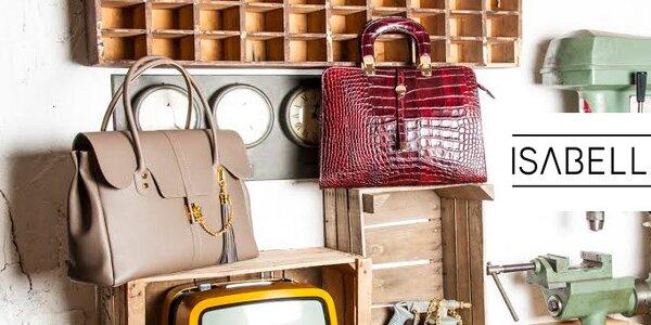 Kvalitní kožené designové kabelky Isabella Rhea