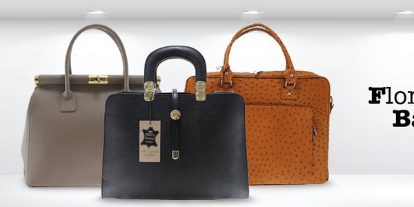 Sofistikované elegantní kožené kabelky Florence bags