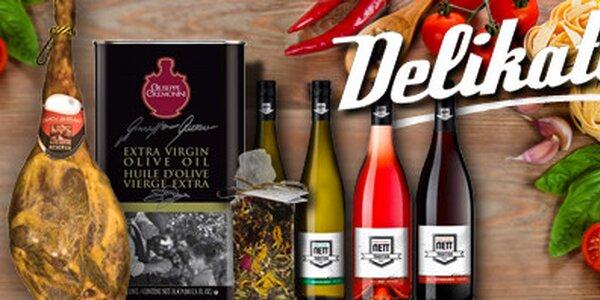 Tretter's chipsy, sušená šunka Jamón Serrano, italská vína, doutníky, kvalitní karibský Rum a dobroty od SKLIZENO.cz
