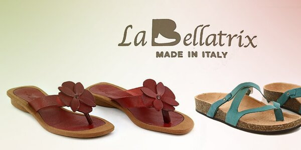 Dámské kožené letní pantofle a žabky La Bellatrix