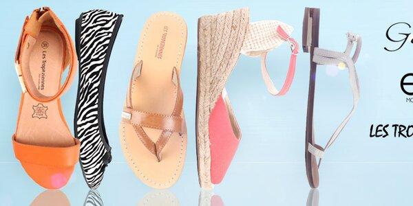 Stylové letní sandálky, žabky a baleríny Elite Shoes již od 299,-