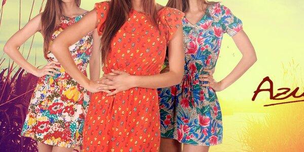 Šatičky, sukně a šortky plné barev a vzorů Azura