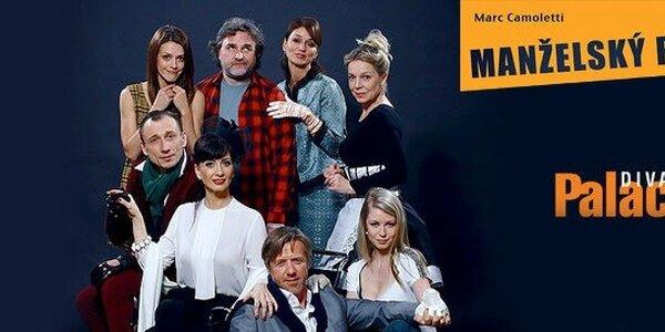 Skvělá komedie Manželský poker Divadla Palace ve Filharmonii Hradec Králové