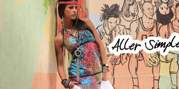 Vesele barevná francouzská letní móda Aller Simplement
