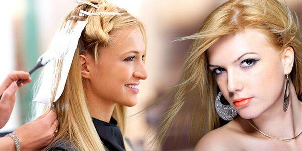 Profesionální střih vlasů s možností melíru