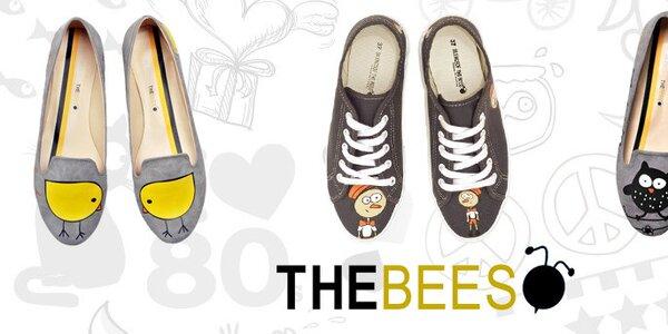 Dámská obuv s vtipnými potisky The Bees