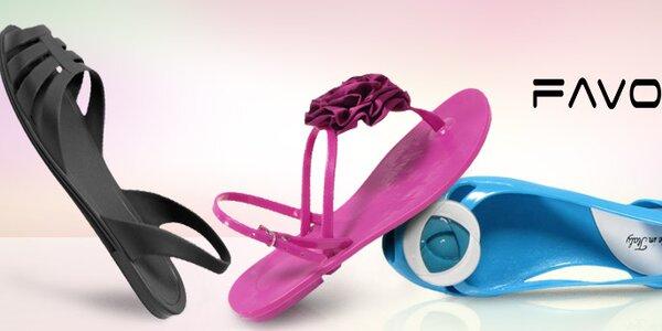 Veselé letní sandálky, žabky, balerínky a tašky Favolla