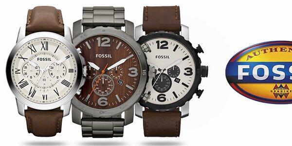 Designové šperky a hodinky pro pány Fossil