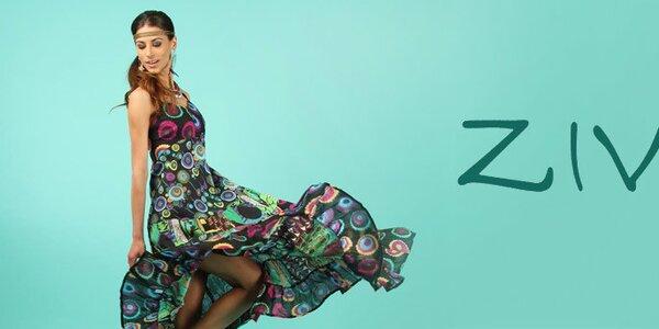 Indií inspirované barevné šatičky i kalhoty Ziva