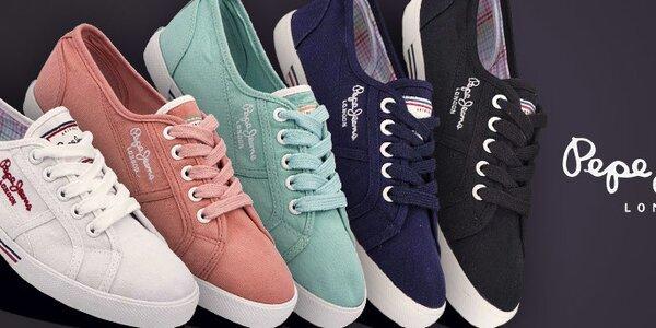 Dámské textilní tenisky a kožené sandály Pepe Jeans