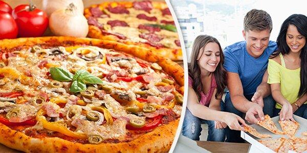 1 nebo 2 pizzy s sebou včetně krabice
