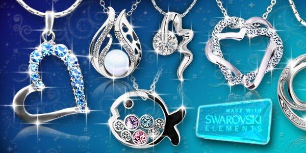 Šperky s krystaly Swarovski Elements a bílým zlatem