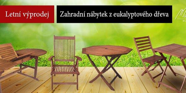 Výprodej! Nábytek z eukalyptového dřeva