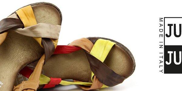 Dámské kožené letní botky Julie Julie