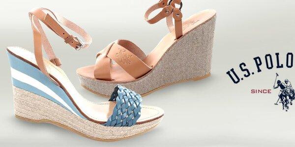Dámské kožené sandálky U.S. Polo