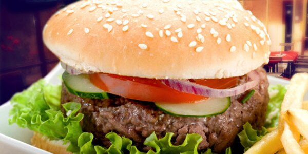 2x 150g Big burgery a hranolky