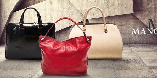 Dokonalá tečka k outfitu - kožené kabelky Mangotti