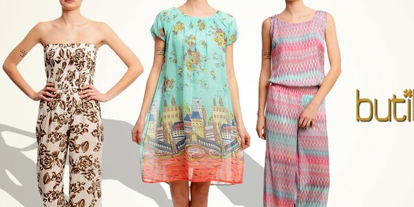 Butik 7279 - vzorované dámské šaty, kalhoty i overaly